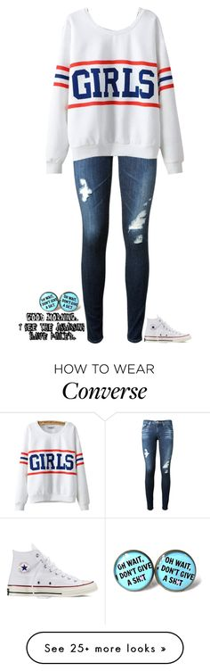 """""""I See the Assassins have Failed"""" by neb1211 on Polyvore featuring AG Adriano Goldschmied, Chicnova Fashion and Converse"""