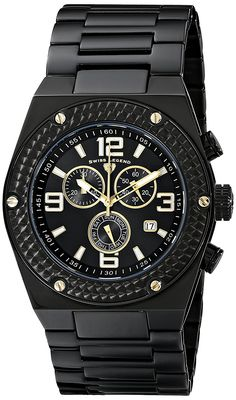 Swiss Legend Men's 40025P-BB-11-GA Throttle Analog Display Swiss Quartz Black Watch ** Check out the watch by visiting the link.
