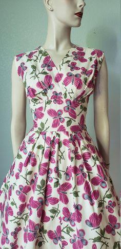 50s Dresses, Lovely Dresses, Cotton Dresses, Vintage Dresses, Casual Dresses, Vintage Outfits, Fashion Dresses, Vintage Fashion, Summer Dresses