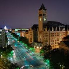Old DC Post Office at night Fitch,Fox and Brown,1983 what an opening!