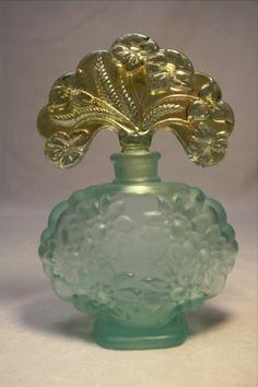 Fenton ART Glass Perfume Bottle With Iridescent Stopper | eBay