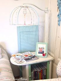 Shabby-Roses-Cottage: Before & after... A side table and a lamp in one...