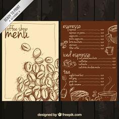手描きのコーヒーメニュー