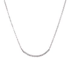 """Love this! Found it on Journey Accessories Add a little subtle sparkle with the elegantly understated Yvonne necklace. Yvonne's ornate CZ-adorned silver tone crescent is a graceful addition to any neckline, easily dressed up or down. You'll shimmer like moonlight in Yvonne.  - Silver tone metal, CZ's - 18"""" long, 3"""" extender - Lobster clasp closure $54"""