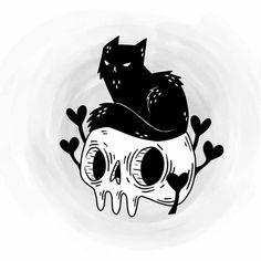 Dark Art Drawings, Poses References, Witch Art, Creepy Art, Flash Art, Skull Art, Ink Art, Art Sketches, Cute Art