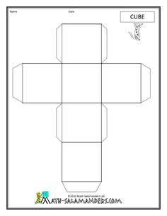 Geometric shape nets shapes cuboid printable nets geometric definitely going to use this site when i . 3d Geometric Shapes, 3d Shapes, School Lessons, Art Lessons, Art Handouts, Math Classroom, Maths, Math Measurement, 8th Grade Math