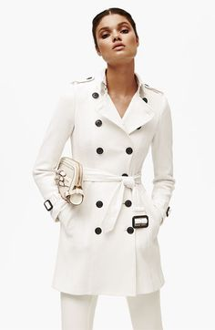 Burberry quilted white coat. Sold out :( www.TheRealReal.com/invite/beksg