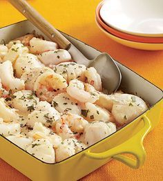 Scallop and Shrimp Newburg Casserole from Family Circle - - made in Dec 2011 & it is soo good! I used white instead of brown rice.
