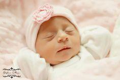 Newborn Hospital Hat Crochet Flower (infant hat, newobrn hat with bow, newborn girl hat, infant beenie) on Etsy, $19.97