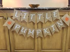 Fall BABY Burlap Banner, Our Little Pumpkin, Pregnancy Announcement Banner, Baby Bunting, Baby Shower Decor, Gender Reveal, Photo Prop