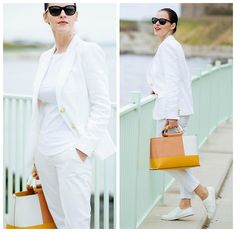 Get this look: http://lb.nu/look/8307697  More looks by Veronica  P: http://lb.nu/user/1069907-Veronica-P  Items in this look:  Tory Burch Bag, J. Crew Blazer   #chic #classic