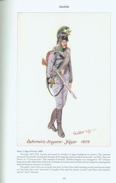 Austria: Plate 3. Jäger Private, 1809