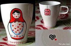 taza pintada - Cerca amb Google