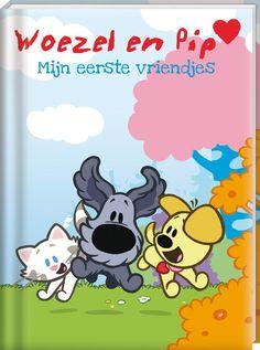 Vrolijk vriendenboekje van Woezel & Pip. Naast het invullen van de vragen is er ook ruimte voor een leuke foto én een zelfgemaakte tekening. #vriendenboekje #school #woezel #pip #webshop #tweeonsgeluk