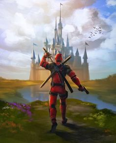 Marvel Comics and Walt Disney Presents: Deadpool kills the Disney Universe. Marvel Vs, Marvel Heroes, Marvel Characters, Disney Characters, Arte Dc Comics, Bd Comics, Batman Comics, Deadpool Art, Deadpool Pics