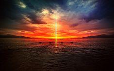 Sunsets ocean digital desert apocalypse 1920x1200 wallpaper