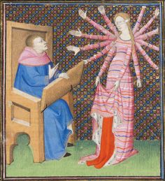 Paris, c.1410. 'Fortune and the author.' Anything you'd like to share with the class, @Fortune St Keyne ? ;)