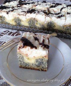 Ciasto Makowe Wydmy pod kokosową pierzynką  PRZEPIS