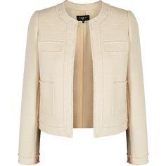 Paule Ka Ivory Tweed Jacket - Size 16 (8.645.440 IDR) ❤ liked on Polyvore featuring outerwear, jackets, white winter jacket, paule ka, pink jacket, pink tweed jackets and ivory jacket