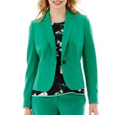 "<p>Let the easy elegance of our one-button blazer bring your whole look together.</p><div style=""page-break-after: always"