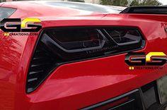 C7 Stingray Corvette Rear Tail Light Blackout lens Kit (Smoked Covers)