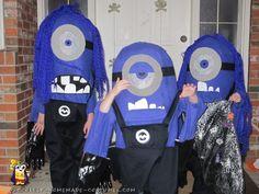 Three Evil Purple Minion DIY Costumes for Kids