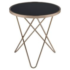 End Table Black Champagne