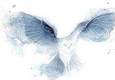 Galaxy Owl *O*  http://www.boredpanda.com/i-make-galaxy-animals-using-watercolor/