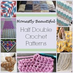 We honestly can't get enough of the half double crochet, and these honestly beautiful blankets are proof enough!