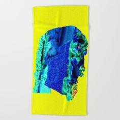 Azurite Face Beach Towel by azima Beach Towel, How To Get, Face, Stuff To Buy, Link, The Face, Faces, Facial