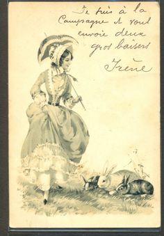 LK161 VIENNE  FEMME Elegante CHAPEAU OMBRELLE LAPIN RABBIT