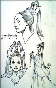 Star Wars - Senator Padme Naberrie Amidala - Attack of the Clones - concept art