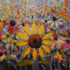"""MYSTIQUE""  wildflower painting by NM artist Dee Sanchez, painting by artist Dee Sanchez"