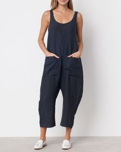 Ilana Kohn Gary Jumpsuit in Faded Black Linen