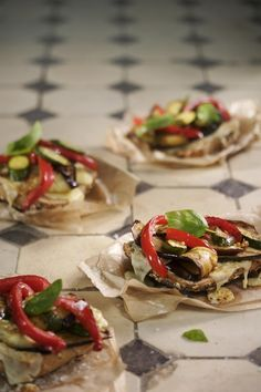Roasted veggie sandwiches from Kos is op die Tafel! Courtesy of Lapa Publishers. Photo by Adriaan Vorster