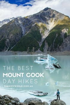 Mount Cook in New Ze Mount Cook in New Zealand has some of the best day hikes in the world. Here's our top New Zealand Itinerary, New Zealand Travel Guide, Amazing Destinations, Travel Destinations, New Zealand Adventure, New Zealand South Island, Mount Cook New Zealand, Journey, Best Hikes