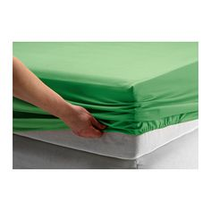 IKEA - DVALA, Fitted sheet, 90x200 cm, , Cotton, feels soft and nice against your skin.Fits mattresses with a thickness up to 26 cm since the fitted sheet has elastic edging.
