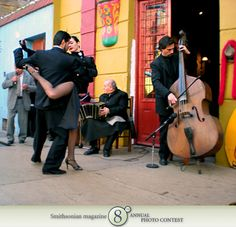 "Photo of the Day - January 04, 2012: ""Tango Dancers in La Boca."" Taken by Moreno Bordignon (Burnaby, BC).  Photographed June 2009, Buenos Aires, Argentina."
