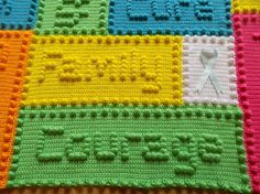 (4) Name: 'Crocheting : Cancer Support Motifs Lap Blanket