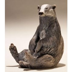 A Fabulously Detailed Sculpture of this Elusive CreatureRaku Glazed CeramicSecurely Dispatched with Fully Insured Free Delivery Pottery Animals, Ceramic Animals, Clay Animals, Urso Bear, Sculpture Clay, Sculpture Images, Sculpture Projects, Pottery Sculpture, Ceramic Sculptures
