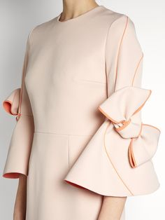 Click here to buy Roksanda Lavete bow-sleeved bonded-crepe dress at MATCHESFASHION.COM
