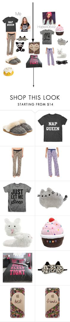 """Sleepover with my BFF"" by tigergirl219 ❤ liked on Polyvore featuring UGG Australia, P.J. Salvage, INC International Concepts, Roudelain, Dylan's Candy Bar, Casetify, LoveIt, squad, Night and netflix"