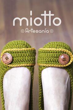 Crochet Womens House Slippers | Zapatillas de Mujer para Casa en Ganchillo