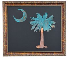 South Carolina Palmetto and Crescent Framed by MrDsCopperCreations
