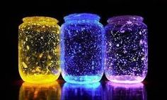 Glow in the dark paint and Jars!