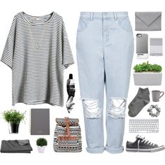 Grey by berina-2000 on Polyvore featuring Boutique, Gap, Converse, Ann Demeulemeester, H&M, Mulberry, Crate and Barrel, LSA International, Nine Space and Lux-Art Silks