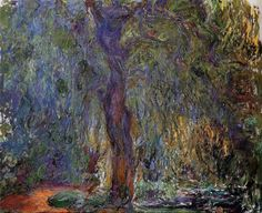 """Weeping Willow ~ Claude Monet """