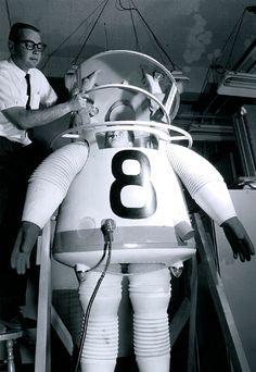 Prototype of a space suit, designed in 1961. A decade before the moon landing, the College of Engineering made UCLA the first university with an astronautics program.