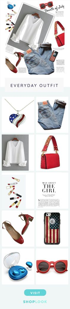 Fourth of July created by streetglamour        on ShopLook.io perfect for Everyday. Visit us to shop this look.