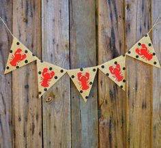 Crawfish polka dot burlap banner by LylaDee on Etsy, $12.00?